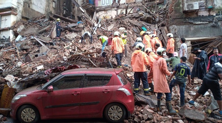 7 dead after 2 buildings collapse in Mumbai after heavy rain