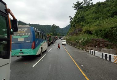 Prithvi highway Two-way traffic resume along