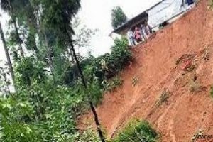 Landslides damage track under Darchula-Tinkar roadway