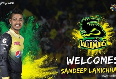 Sandeep plays in style leading his team Jamaica Tallawahs to a win