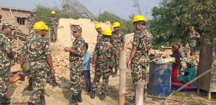Nepal Army implemented five projects around 80 percent progress