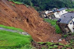 60 houses at Shankharapur in danger of landslide