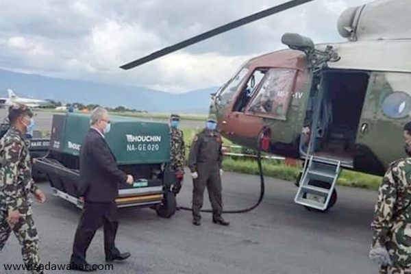 Minister Thapa's helicopter returns Pokhara to due to unfavorable weather