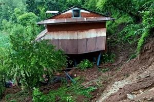 Landslide claims one in Kaski